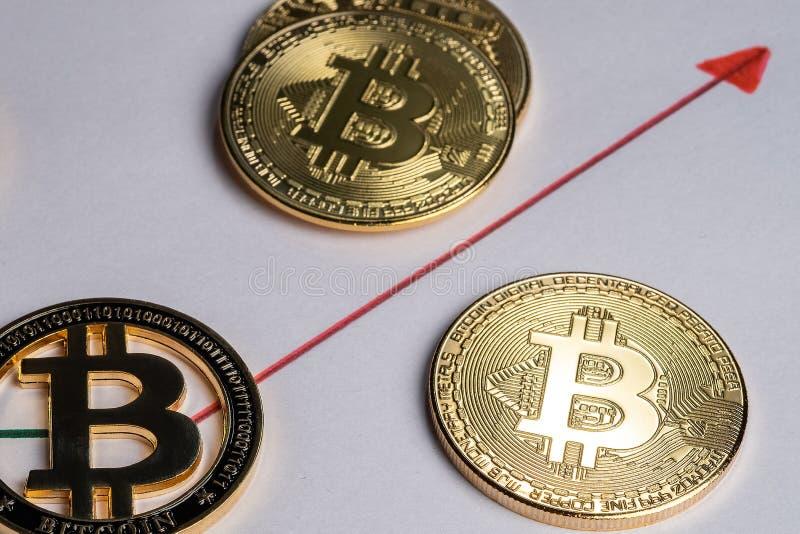Bitcoin równy sobie system płatności który używa ten sam jednostkę uzasadniać transakcje zdjęcia stock