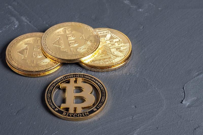 bitcoin równy sobie system płatności który używa ten sam jednostkę uzasadniać transakcje obraz stock
