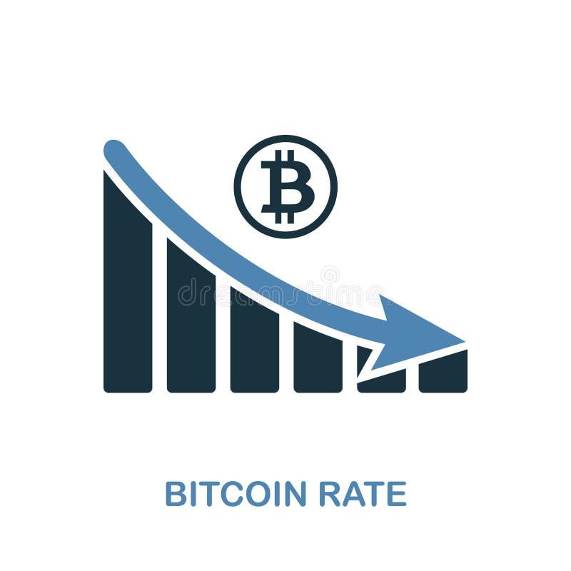 Bitcoin Rate Decrease Graphic symbol Monokrom stildesign från diagramsymbolssamling Ui Perfekt enkel pictogrambitco för PIXEL royaltyfri illustrationer