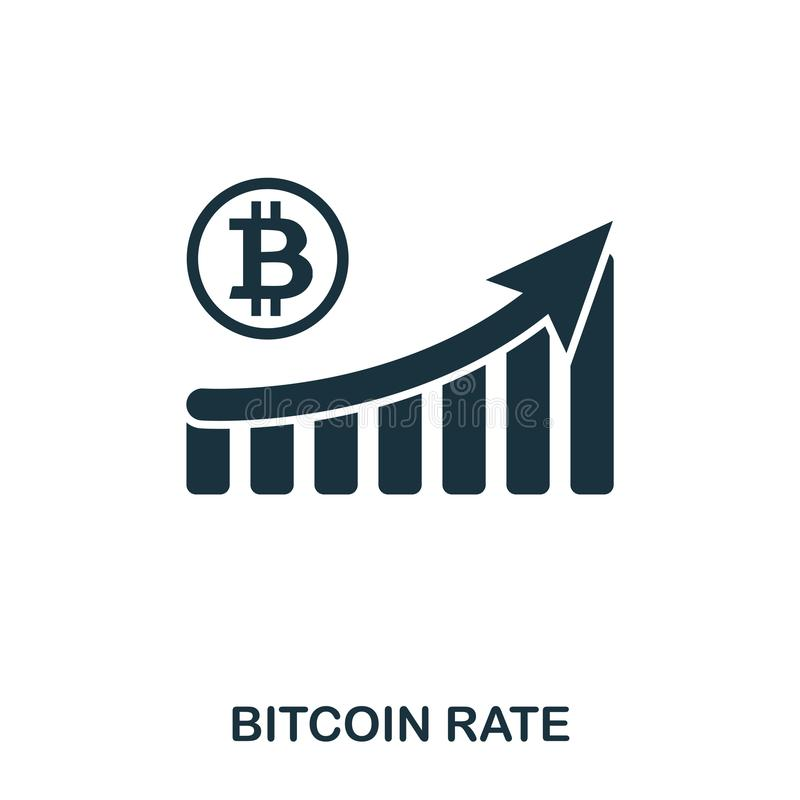 Bitcoin Rate Increase Graphic icon. Mobile apps, printing and more usage. Simple element sing. Monochrome Bitcoin Rate. Increase Graphic icon illustration vector illustration