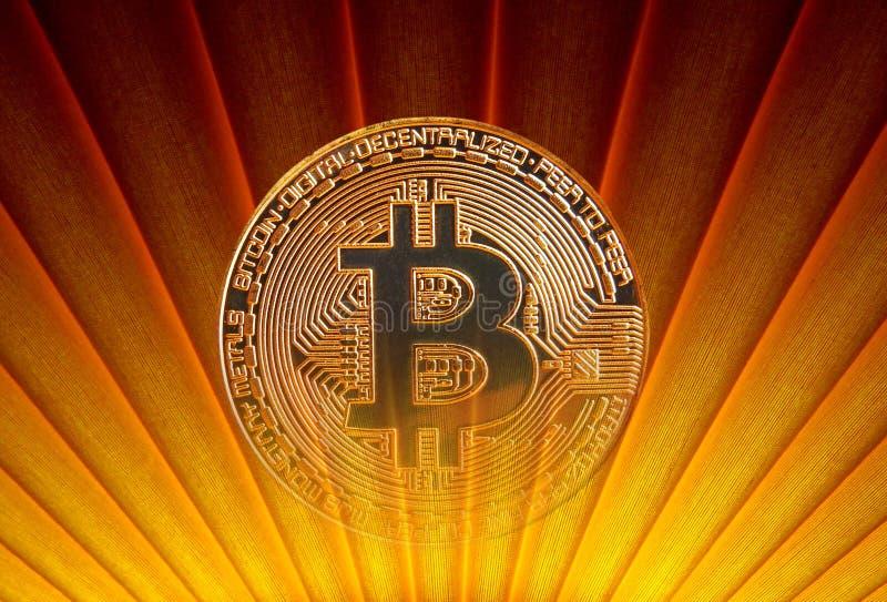 Bitcoin retro art décosoluppgång arkivfoton