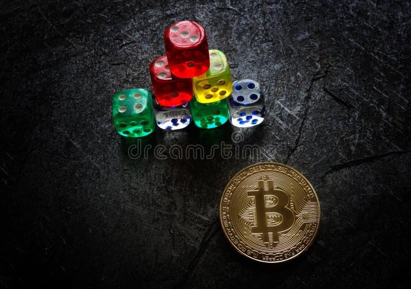 Bitcoin risktärning fotografering för bildbyråer