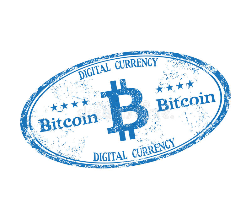 Bitcoin rubber stamp royalty free stock photography