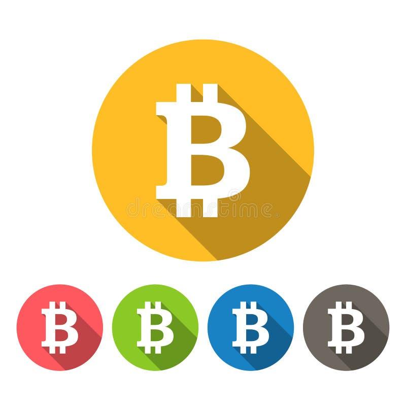 Bitcoin rundasymboler sänker design vektor illustrationer