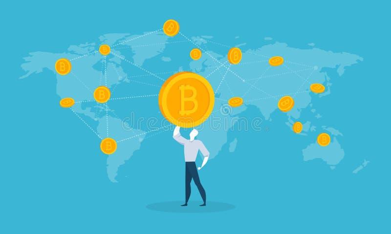 Bitcoin rynek royalty ilustracja