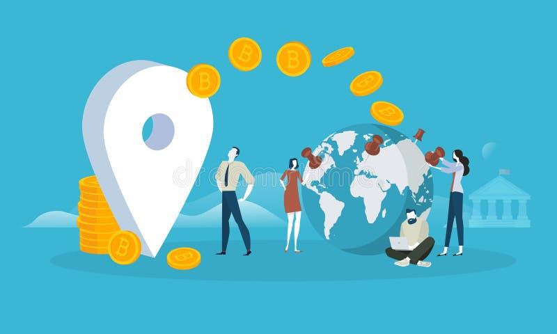 Bitcoin rynek ilustracja wektor