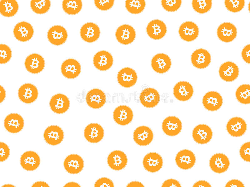 Bitcoin sömlös modell Monetärt system vektor stock illustrationer