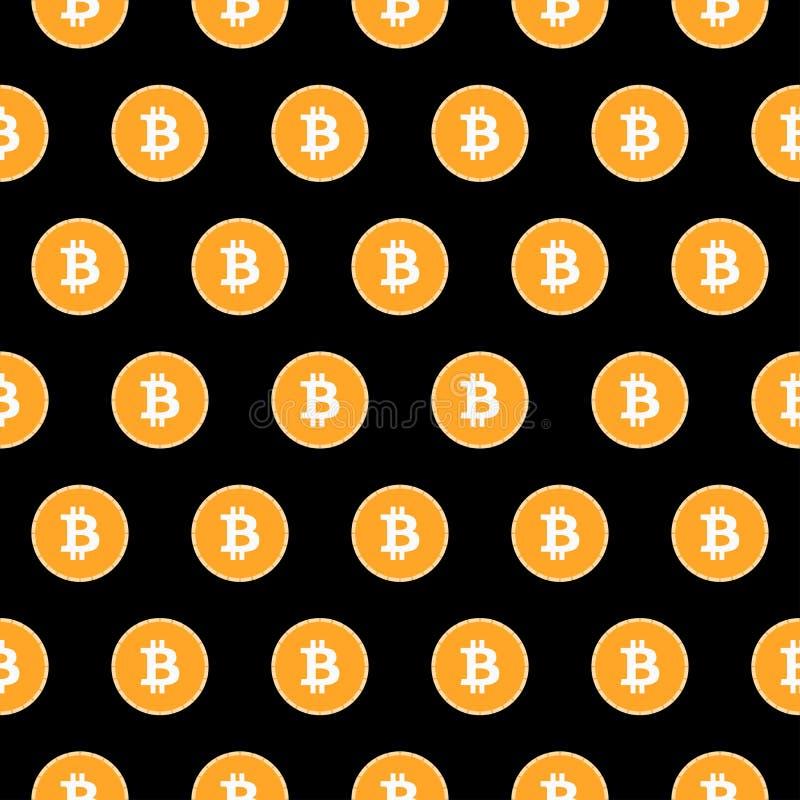 Bitcoin sömlös modell Monetärt system vektor vektor illustrationer