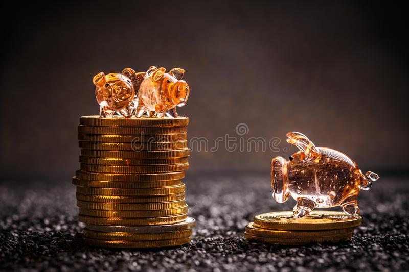 Bitcoin saving concept royalty free stock image