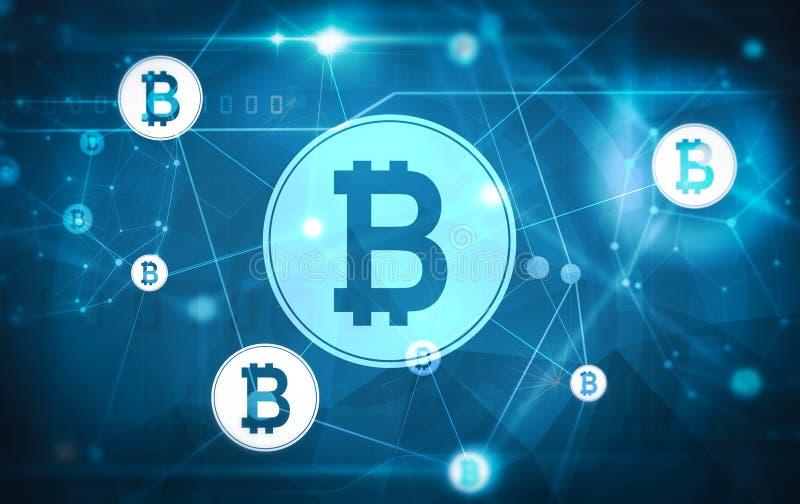 Bitcoin sieci matryca ilustracja wektor