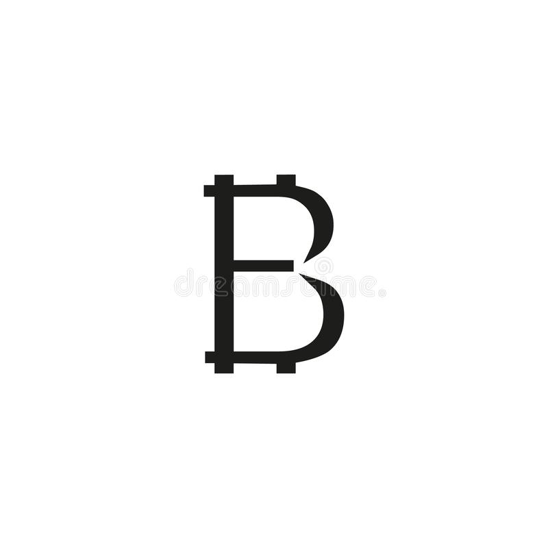 Bitcoin sign icon for internet money. Crypto currency symbol and coin image for using in web projects or mobile vector illustration
