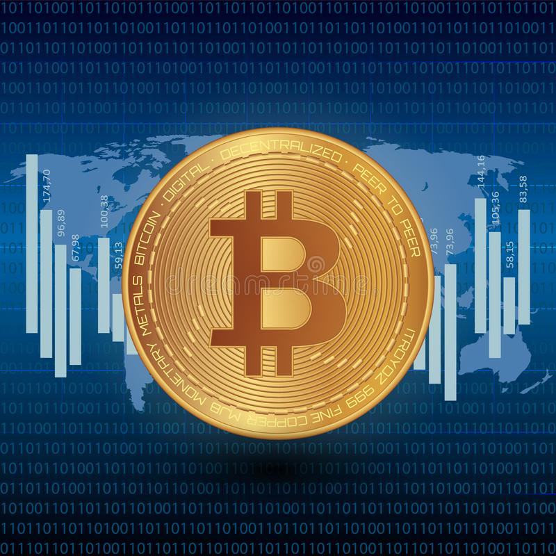 Bitcoin Stock Vector Illustration Digital Currency Cryptocurrency