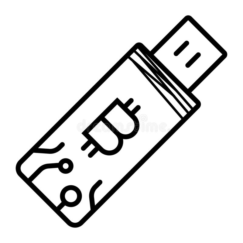 Bitcoin storage icon vector illustration