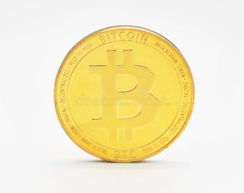 Bitcoin sur le fond blanc photo stock