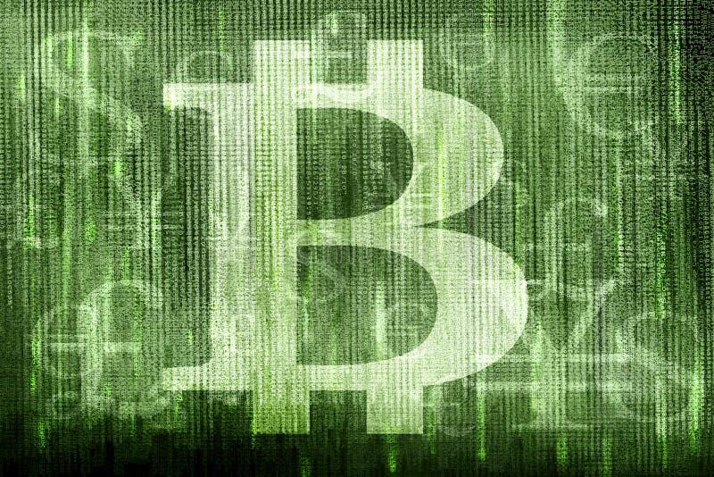 Bitcoin symbol i inne waluty obraz stock