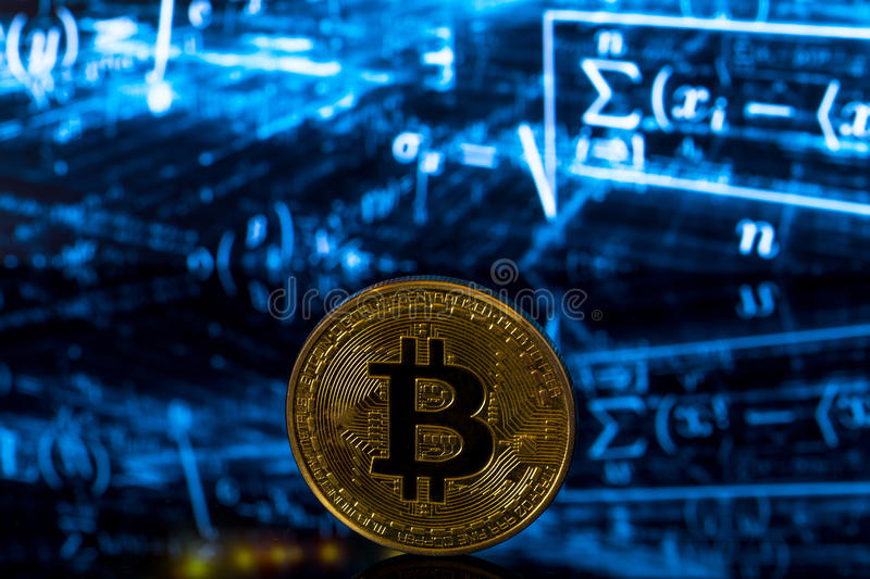 Bitcoin symbol of mining stock images