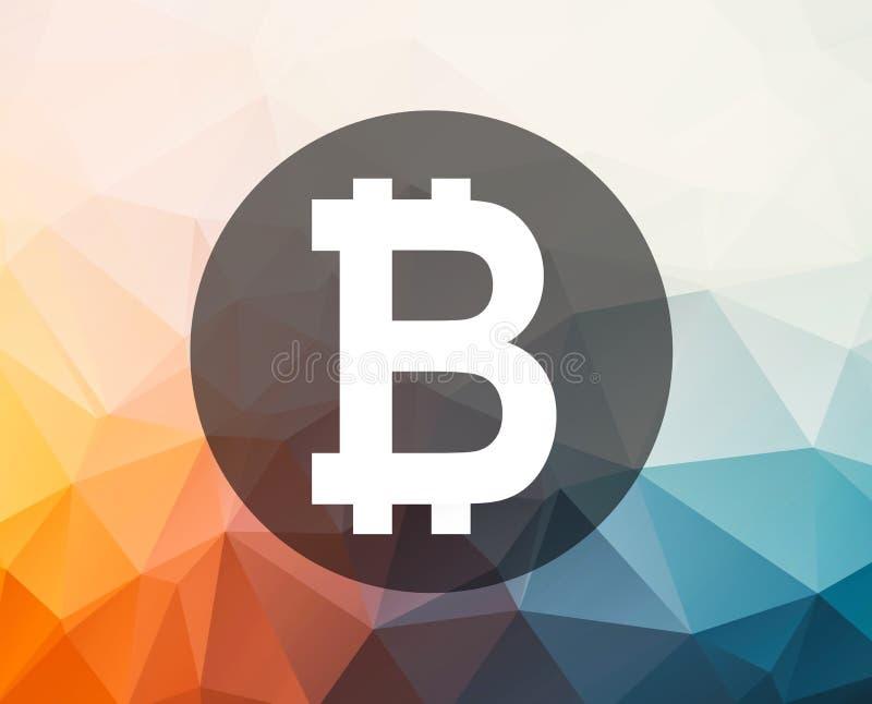 Bitcoin symbolu ilustracja royalty ilustracja