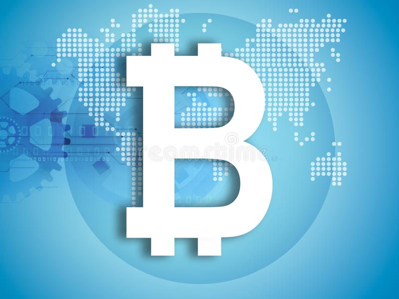 Bitcoin symbolu ilustracja ilustracja wektor