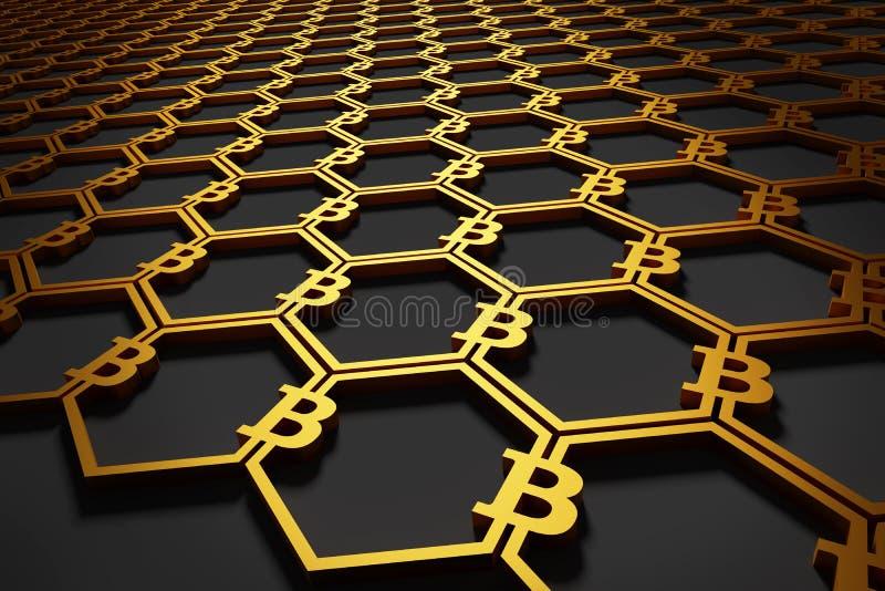 Bitcoin symbolu tło obraz stock
