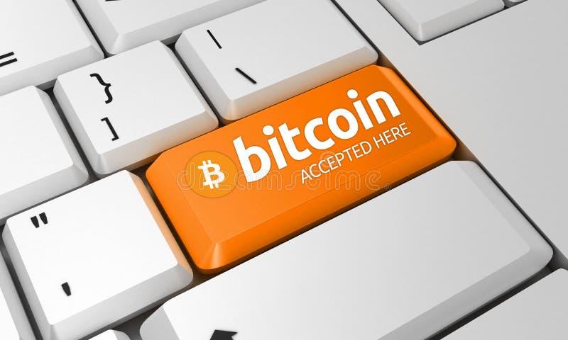 Bitcoin-Tastatur Bitcoin-Zeichen 3d übertragen stockfotos