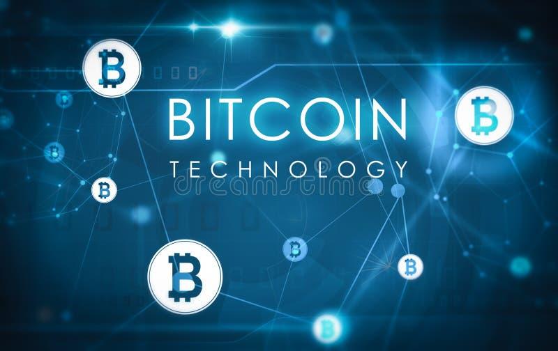 Bitcoin technologii ilustracja ilustracja wektor