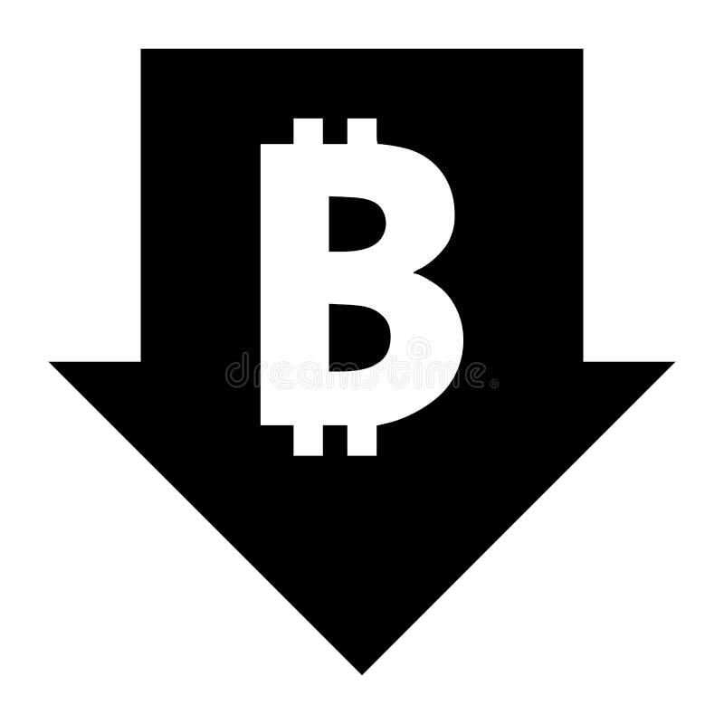 Bitcoin tempo spada puszka znak ilustracja wektor