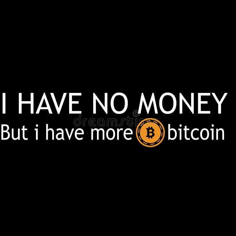 Bitcoin typografii projekt dla wszystko royalty ilustracja