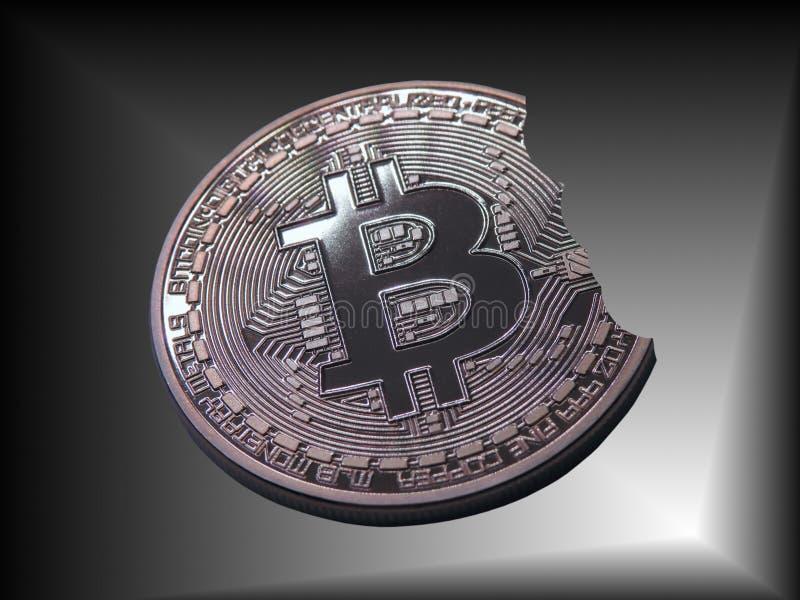 Bitcoin un pedazo de una mordedura libre illustration