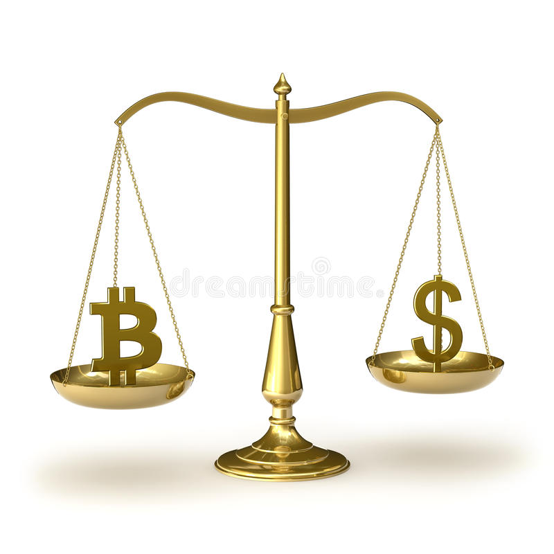 Download Bitcoin and USD stock illustration. Illustration of analysis -  51227029