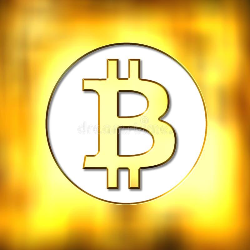 Bitcoin valutasymbol vektor illustrationer