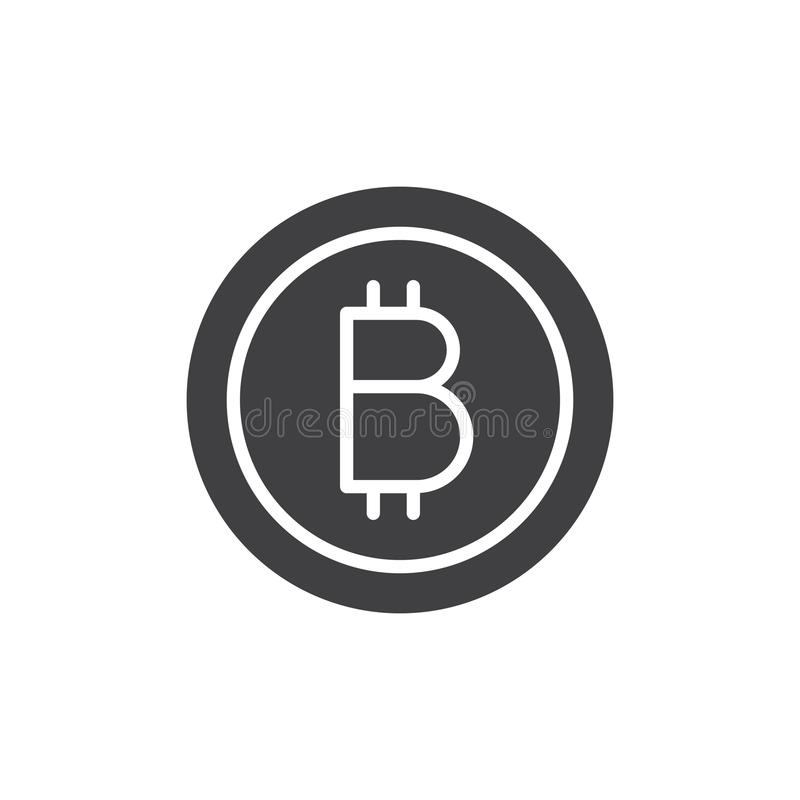 Bitcoin vektorsymbol vektor illustrationer