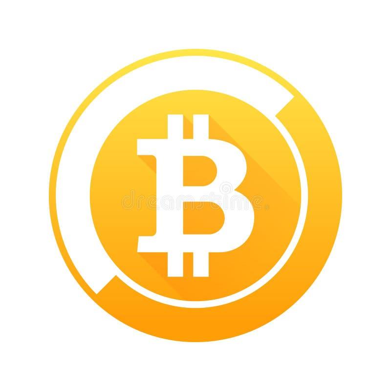 Bitcoin vektortecken vektor illustrationer