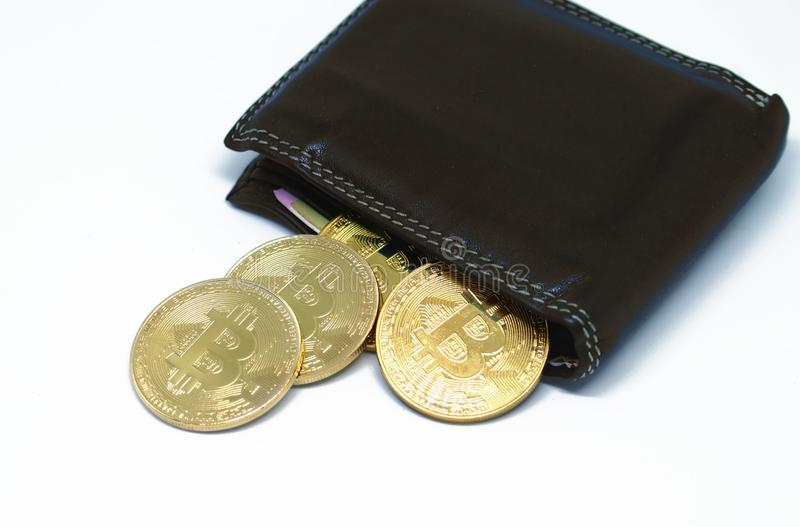 Bitcoin wallet with coins on a white background stock image image bitcoin wallet with coins on a white background bitcoin modern virtual money ccuart Images