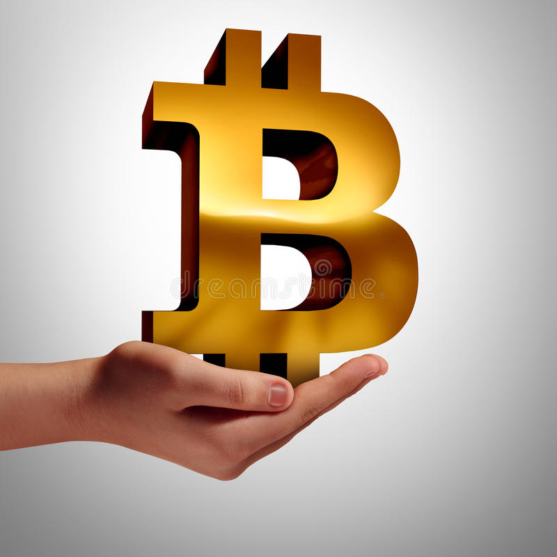 Bitcoin waluta royalty ilustracja