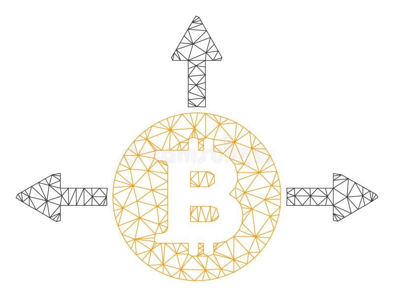 Bitcoin warianta kierunków wektoru siatki sieci model royalty ilustracja