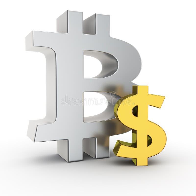 Bitcoin wekslowy tempo royalty ilustracja