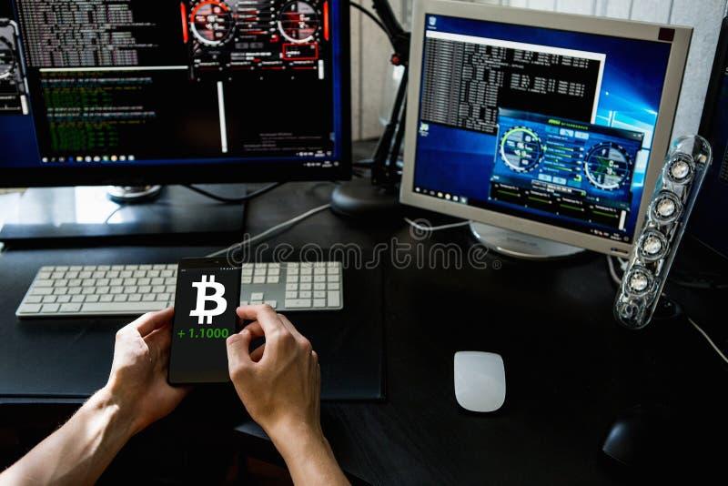 Bitcoin wekslowy tempo zdjęcie royalty free