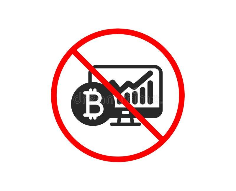 Bitcoin wykresu ikona Cryptocurrency analityka znak wektor royalty ilustracja