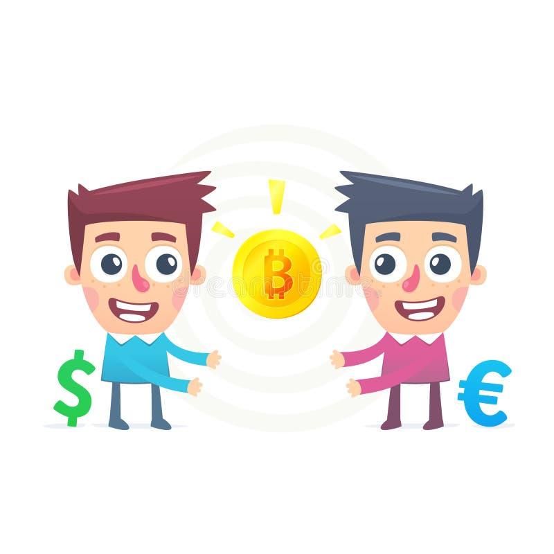 Bitcoin wymiana royalty ilustracja