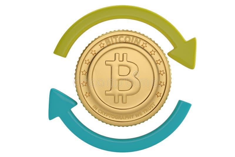 Bitcoin wymiany pojęcie ilustracja 3 d ilustracji