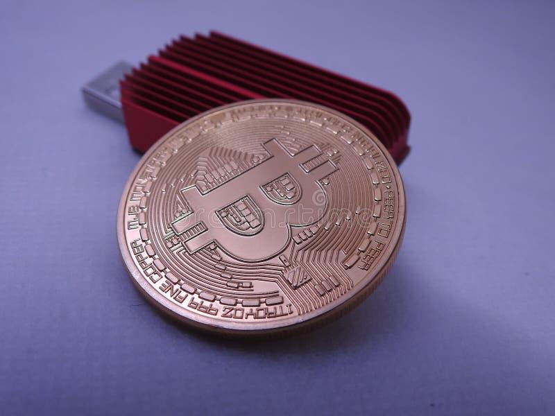 Bitcoin y asic imagen de archivo
