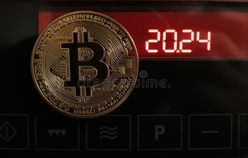 Bitcoin y contador de tiempo foto de archivo libre de regalías