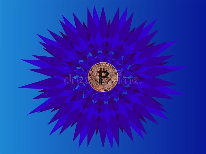 Bitcoin y cristales libre illustration