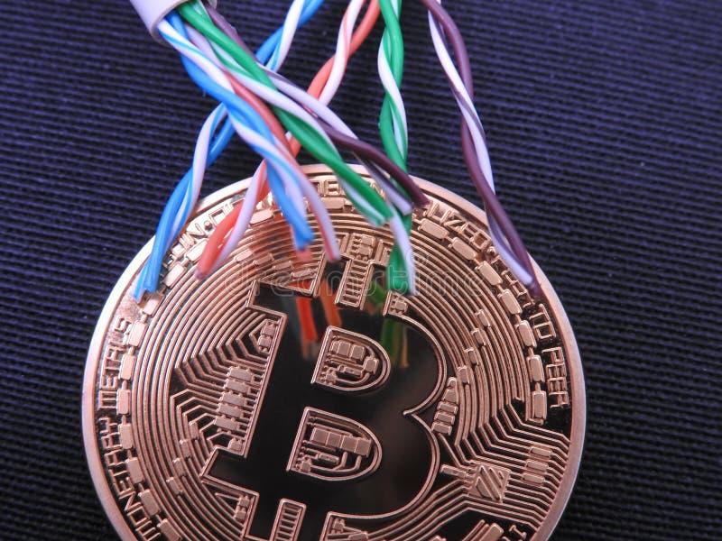 Bitcoin y UTP imagen de archivo