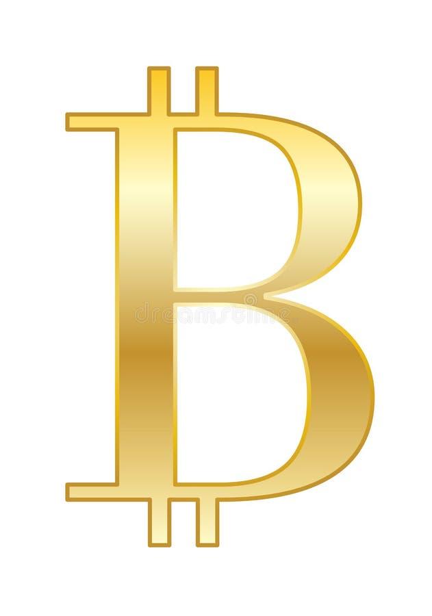 Bitcoin złota ikona ilustracji