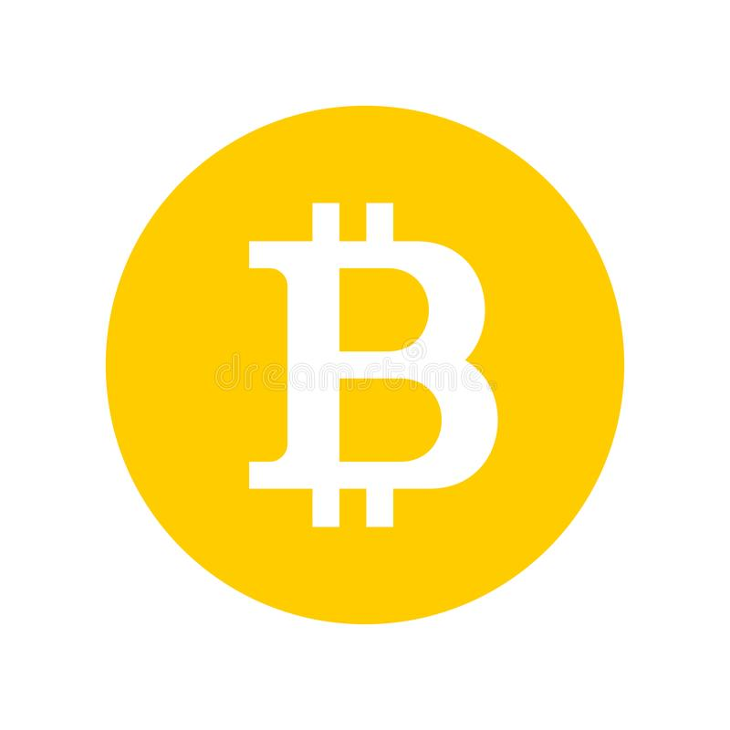 Bitcoin-Zeichen-Logo stock abbildung