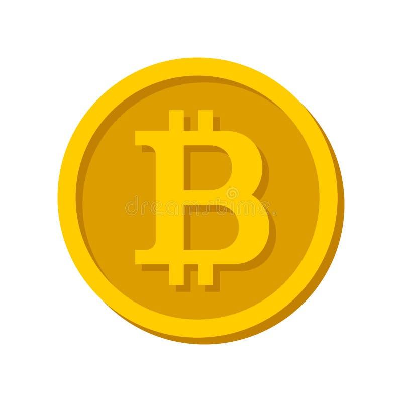 Bitcoin-Zeichen-Logo lizenzfreie abbildung