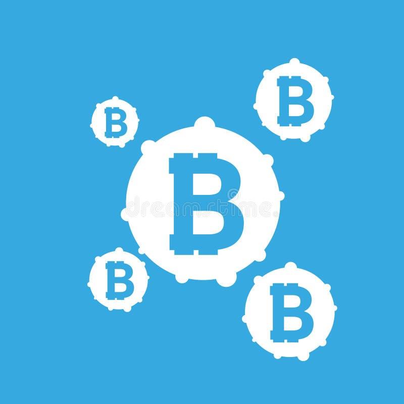 Bitcoin znaka ikona dla interneta pieniądze Crypto moneta wizerunek dla używać w i