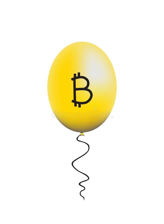 Bitcoinballon stock foto's
