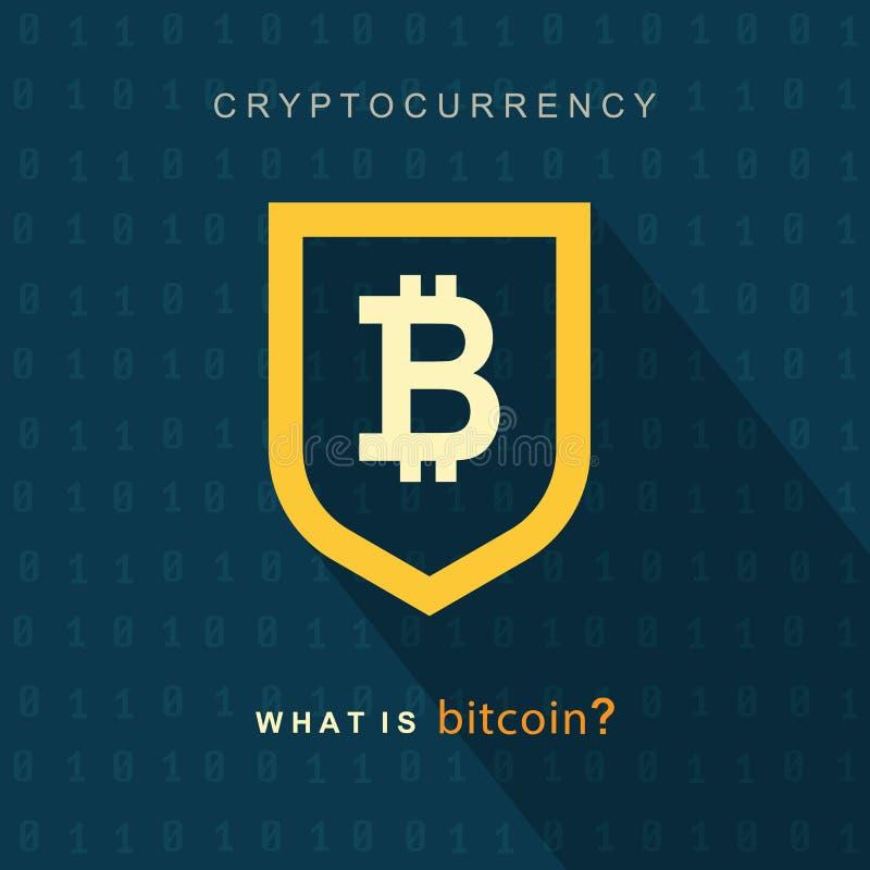 Bitcoinconcept Sigh van het Cryptocurrencyembleem stock illustratie